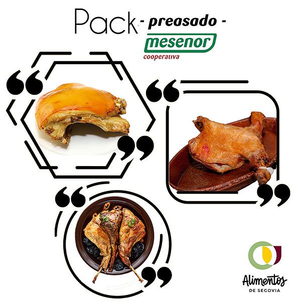 Pack Preasado Cochinillo, Cordero y Conejo